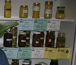 preserves jars on display